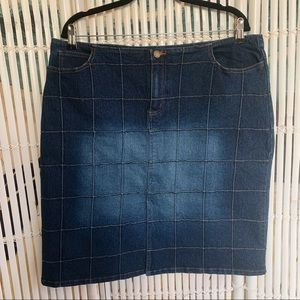 Vintage Patchwork Denim Skirt